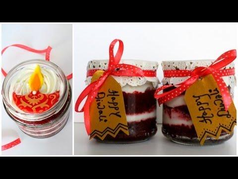 Video Red Velvet Cake Jar | Diwali Special | Eggless