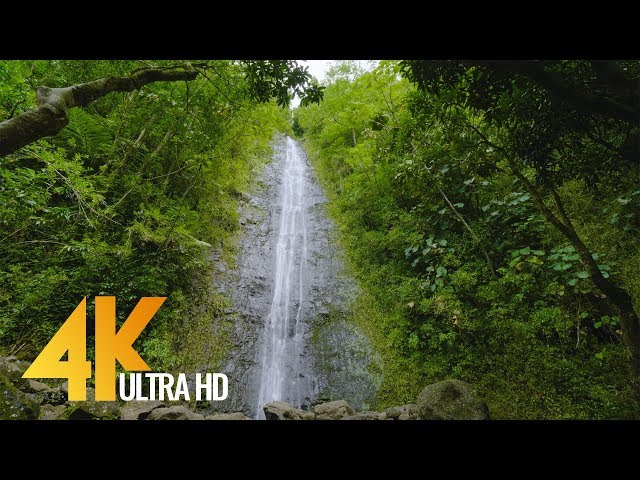 Gorgeous Waterfalls in 4K 60fps (2160p) - Soothing Nature Video for Relaxation-Oahu Waterfalls 5 HRS