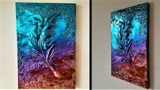 How To Make Embossed Painting   Metal Art