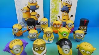 2015 McDONALD'S MINIONS MOVIE SET OF 14 HAPPY MEAL KIDS TOYS VIDEO REVIEW (UK EXCLUSIVE)