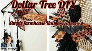 Simple Farmhouse Halloween Decor ⚫ Dollar Tree DIY ⚫ Halloween Decor Ideas