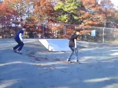 Alex and Ben duo skate session at Mashpee Skatepark