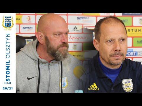 Trenerzy po meczu po meczu Arka Gdynia - Stomil Olsztyn 2:0
