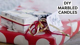 DIY Marbled Candles ~ Christmas Bulk Gifts - HGTV Handmade