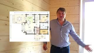 Видео со стройки дома по проекту
