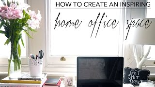 How To Create At Inspiring Home Office Space | Full Time Blogging | Fashion Slave