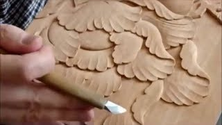 Japanese Wood Carving Skills And Techniques | The Most Incredibly Fast Yet Satisfying Carving Ever