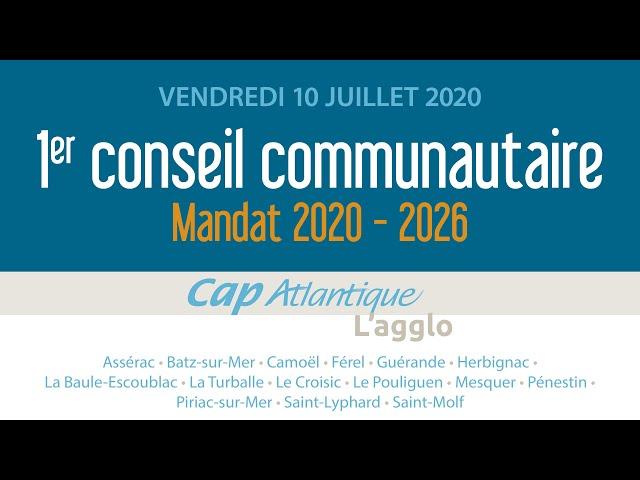 Mandat 2020-2026 : premier conseil communautaire