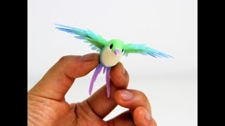 Colorful Little Bird Polymer Clay Sculpture Making Process