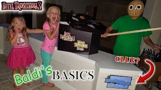 Baldi's Basics in Real Life! Toy Scavenger Hunt for Stolen Hotel Transylvania 3 Toys in the Dark!!