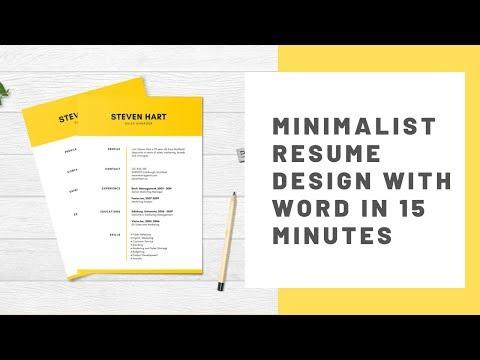 Super Minimalist CV/Resume Design Tutorial in Microsoft Word | Curriculum Vitae Design