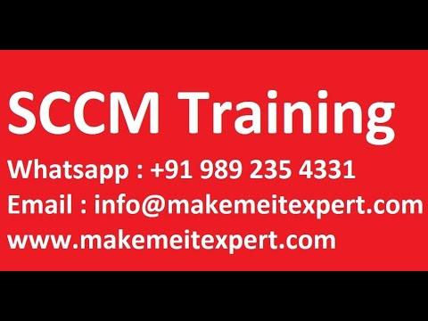 #SCCMTraining Microsoft SCCM Online Training | SCCM ... - YouTube