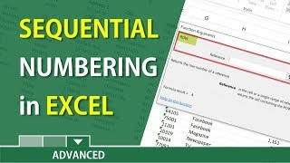 Sequential Numbering in Excel with the ROW function by Chris Menard