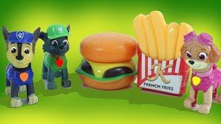 Щенячий Патруль  Мультик Пицца Гамбургер и Торт для щенков