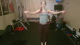 Kamloops Chiropractor | Movement Demo | Palms Up Banded Pull Aparts