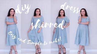 SEWING: How to make Dreamy Cottagecore  Dress with Puff Sleeves from Scratch and No Pattern | DIY