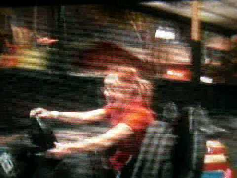 Hayley Williams and Zac Farro from Paramore riding bumper cars!