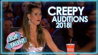 CREEPY AUDITIONS From X Factor, Got Talent and Idols 2018! | Top Talent