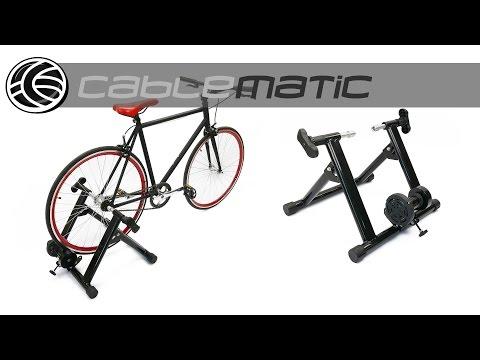 Rodillo de entrenamiento para bicicleta ajustable spinning distribuido por CABLEMATIC ®