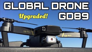 Global Drone GD89 1080p wifi FPV Optical Flow Sensor Quadcopter Test Flight and Review