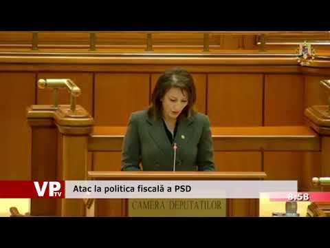 Atac la politica fiscală a PSD