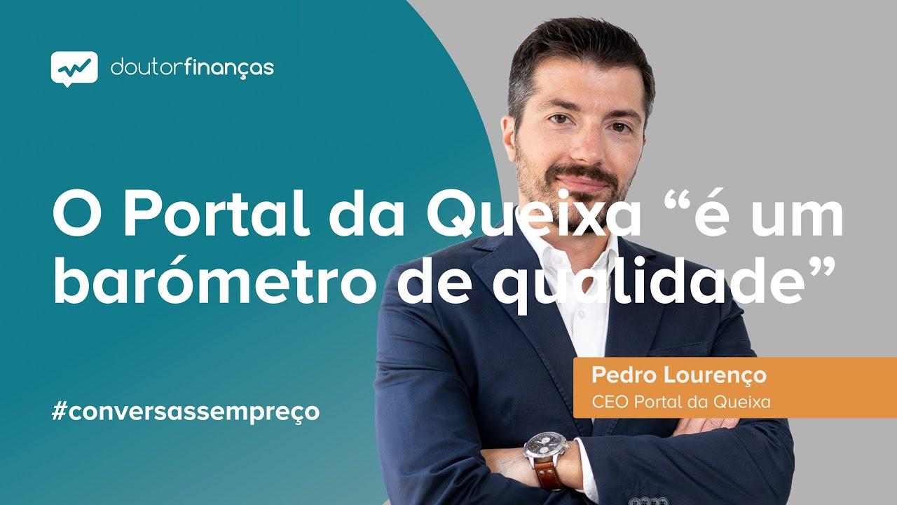Imagem de um pc portátilonde se vê o programa Conversas sem Preço com a entrevista a Pedro Lourenço, CEO do Portal da Queixa