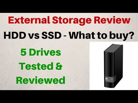 External Storage Review – 5 Drives Tested – HDD vs SSD – Which one should you buy?