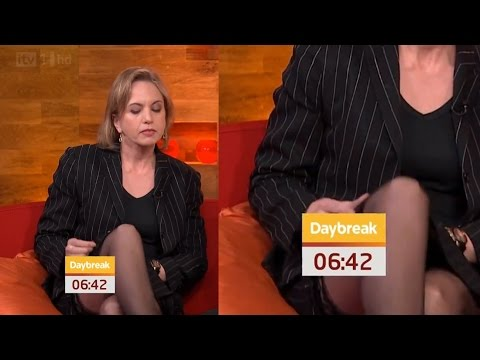 Kirsty Brimelow stockings top on TV - Gorgeous Women
