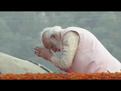 PM Modi pays floral tribute to Sardar Patel at Statue of Unity in Gujarat