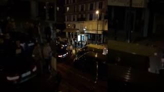 Manif  sauvage de policiers rue de rivoli