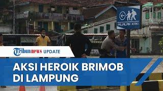 Aksi Heroik Brimob di Lampung Tangkap Pria yang Mengamuk Sambil Bawa Sajam, Pelaku Paksa Masuk ke KA
