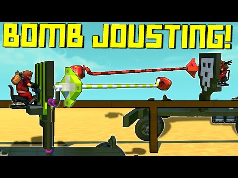 Jousting With Explosive Tipped Lances Is The Best Bad Idea! - Scrap Mechanic Multiplayer Monday