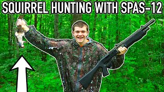 SQUIRREL HUNTING WITH A SPAS-12!!! (Ft. Ace Videos)