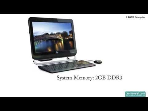 "HP 18-1106in 18.5"" All-in-One Desktop (Black)"