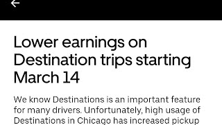 Uber reducing rates on Destination trips?