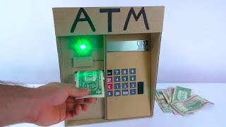 How To Make ATM Machine From Cardboard | DIY ATM For Kids