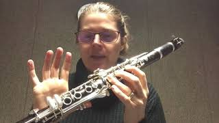 Chromatic Scale 1st Octave Clarinet Tutorial
