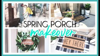 SPRING FRONT PORCH DECOR 2020 | FRONT PORCH CLEAN & DECORATE WITH ME