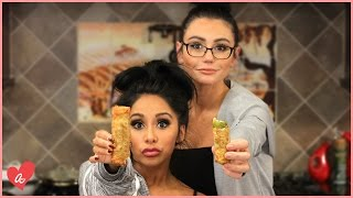 Snooki & JWOWW Make Fried Pickle Poppers! | #MomsWithAttitude Moment