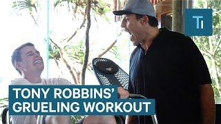 Tony Robbins' workout routine is 15 minutes of pure torture