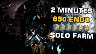 SOLO ENDO FARM - NIDUS PHRYKE - up to 650 Endo in under 2 Minutes - Warframe