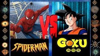 Spiderman (Marvel Comics) vs Goku (Dragonball Z) - Ultimate Mugen Fight 2016