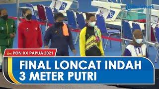 Pertandingan Final Loncat Indah Nomor Papan 3 Meter Putri di PON XX Papua, Tampilkan 10 Peserta