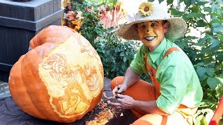 Halloween Pumpkin Carving At Disneyland Paris 2018 - Disney Including Mickey, Minnie, Villains