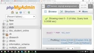 How to count row in database using php with mysqli?