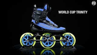 nlines Powerslide Powerskating World Cup Trinity - 3x125mm