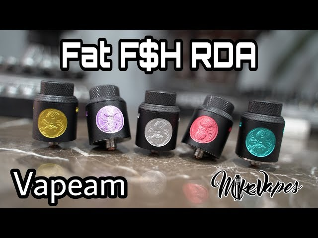 Fat Fish RDA By Vapeam - Coil & Wicking Tutorial - Fat F$H RDA