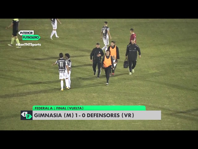 FINAL DE VUELTA: GIMNASIA 1 -DEFENSORES 0