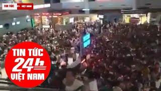Khách Trung Quốc ùn ùn chen nhau làm thủ tục tại Cam Ranh