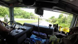 Buchanan Volunteers: Engine 3 responds to an MVC (GoPro)